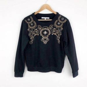 Lovers + Friends Embroidered Pullover Sweater B18